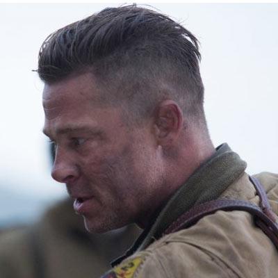 Brad Pitt Fury Haircut
