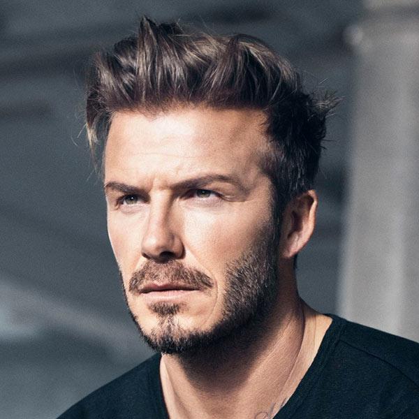 David Beckham Haircut Beard Eyes Weight Measurements - David beckham armani hairstyle